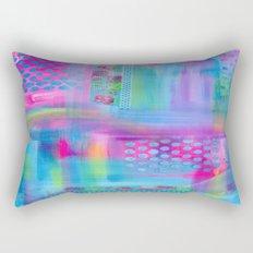 Pink with Blue Dots Rectangular Pillow