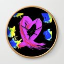 Pink Heart Ribbon (with Tie-Dye Blue-Yellow) for Breast Cancer Research by Jeffrey G. Rosenberg by pooka