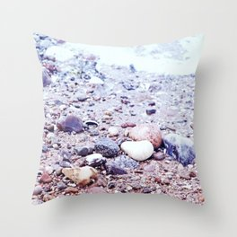 Colorful Stones by the Baltic Sea Throw Pillow