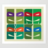 tmnt Art Prints featuring TMNT by Szoki