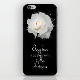White rose in darkness iPhone Skin