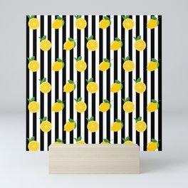 Lemon Pattern Mini Art Print