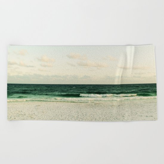 Lonely Wave Beach Towel