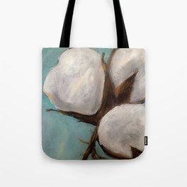 Blue Cotton Tote Bag