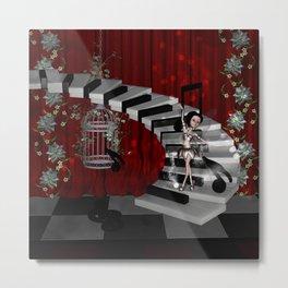 Dancing fairy on the piano Metal Print