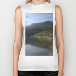 Swept Away Abstract Landscape Biker Tank