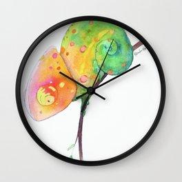 Curious Chameleon Wall Clock