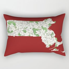 Massachusetts in Flowers Rectangular Pillow