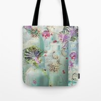 lydia martin Tote Bags featuring Lydia by Maggie Green