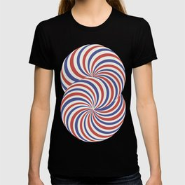 torus blue and red airmail theme T-shirt