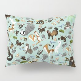 Mustelids from Spain pattern Pillow Sham
