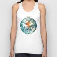 earth Tank Tops featuring Earth by Terry Fan