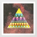 Pyramid in Space. by nelsonicboom