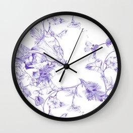 Jeweled Botanist Wall Clock