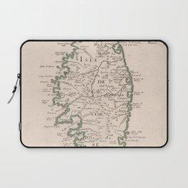 Vintage Map of Corsica France (1697) Laptop Sleeve