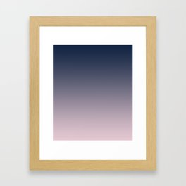 Blue and pink gradient. Ombre. Framed Art Print
