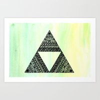 triforce Art Prints featuring Triforce by Leonnie's Art