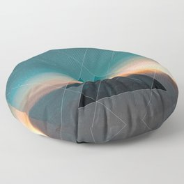 Mountain Landscape Geometric Floor Pillow