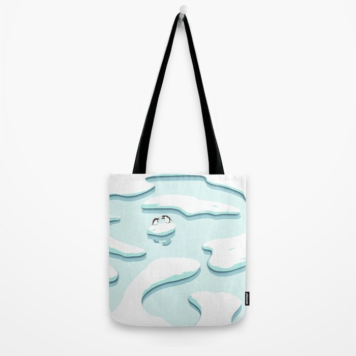 Arguing Penguins Tote Bag