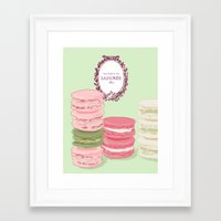 macarons Framed Art Prints featuring Macarons by Silbox