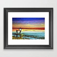Surfing  Croyde Framed Art Print