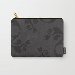 Venetian Damask, Ornaments, Swirls - Gray Black Carry-All Pouch
