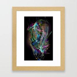 Flora Swirl Framed Art Print