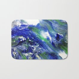Unstoppable blue Bath Mat