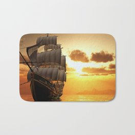 Ship Sunset Bath Mat