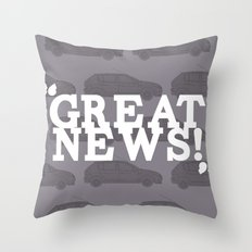 Great News Throw Pillow