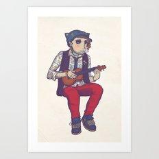 Ukulele Guy Art Print