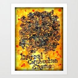 Infernal Combustion Engine Art Print