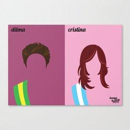 Dilma x Cristina Canvas Print