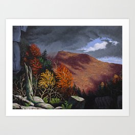 Passing storm, Thacher Park, Albany Art Print