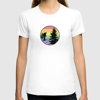 hiking T-shirts featuring Hiking by Paul Simms