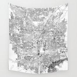 Las Vegas White Map Wall Tapestry