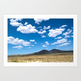 Vast arid plain in Neuquen, Argentina Art Print