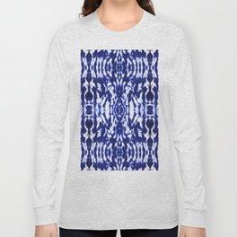 Ayashi Shibori Ikat Blue Long Sleeve T-shirt