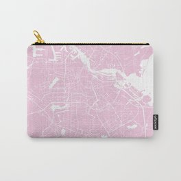 Amsterdam Pink on White Street Map Carry-All Pouch