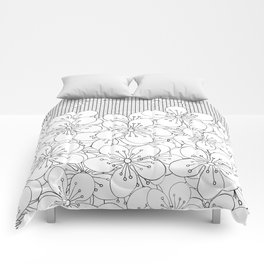 Cherry Blossom Grid - In Memory of Mackenzie Comforters