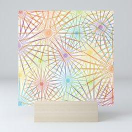 Colorful Christmas snowflakes pattern- holiday season gifts- Happy new year gifts Mini Art Print