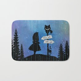 Any Road Will Get You There - Alice In Wonderland Bath Mat