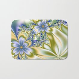 Silky Flowers Bath Mat