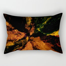 Abstract colorful explosion rocks nature energy illustration Rectangular Pillow