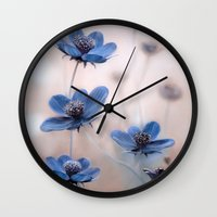 cosmos Wall Clocks featuring Cosmos by Mandy Disher