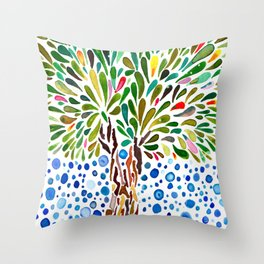 Treestory Throw Pillow