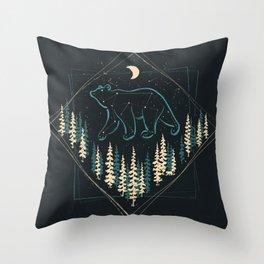 Heaven's Wild Bear Throw Pillow