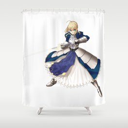 Fate/stay Night - Saber Shower Curtain
