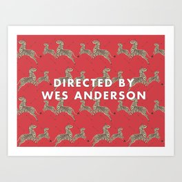 Directed By Wes Anderson - Zebra Wallpaper Art Print
