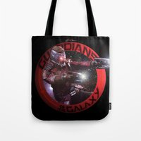 guardians of the galaxy Tote Bags featuring StarLord - Guardians of the Galaxy by Leamartes